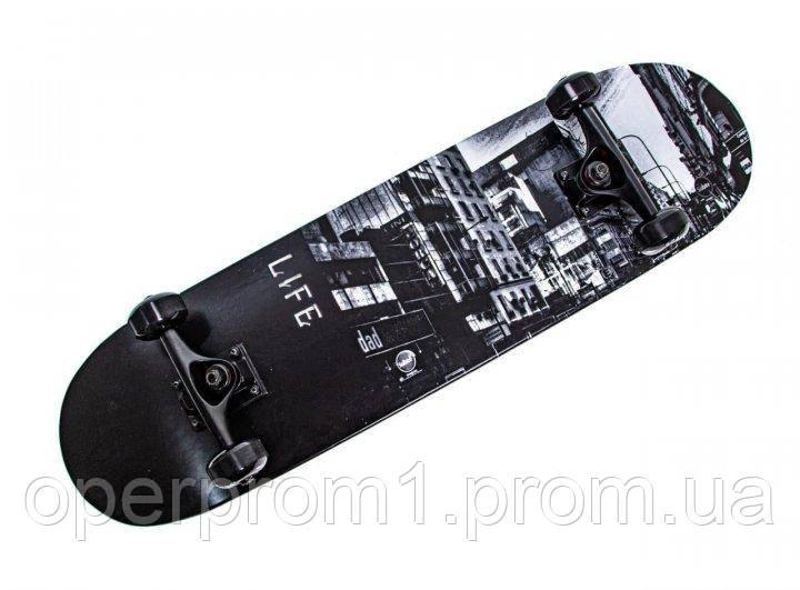 Дерев'яний Скейтборд Scale Life Sports Чорний