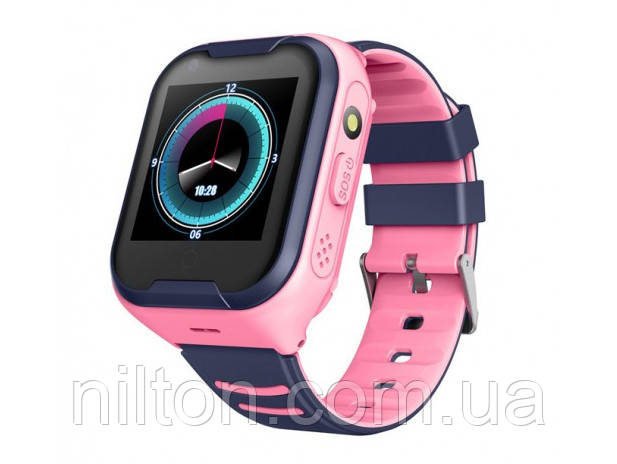 Умные десткие GPS часы Smart Baby Watch A36E Original (4G) Розовые
