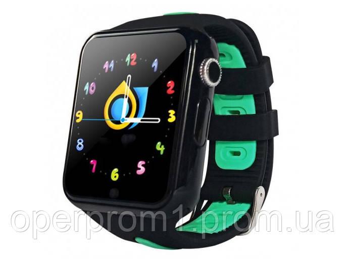 Умные детские GPS  часы Smart Baby Watch V5K Черно-зеленые