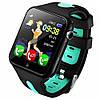 Умные детские GPS  часы Smart Baby Watch V5K Черно-зеленые, фото 2
