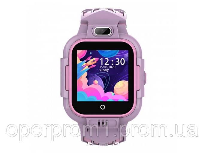 Умные детские GPS часы Wonlex Smart Baby Watch KT15 (4G) Розовые