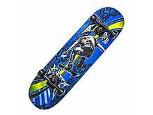 """Скейтборд Scale Sports деревянный с рисунком 31"""", Displey King"""