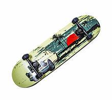 """Скейтборд Scale Sports деревянный с рисунком 31"""", Malibu"""