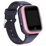 Умные детские GPS часы Wonlex Smart Baby Watch KT15 (4G) Серо-розовые, фото 2