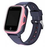 Умные детские GPS часы Wonlex Smart Baby Watch KT15 (4G) Серо-розовые, фото 4