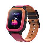 Розумні дитячі GPS годинник Wonlex Smart Baby Watch KT20 (4G) Рожево-помаранчеві, фото 2