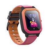 Розумні дитячі GPS годинник Wonlex Smart Baby Watch KT20 (4G) Рожево-помаранчеві, фото 3