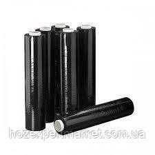 Стрейч пленка 20 мкм - 500 мм × черный / 450 м, фото 2