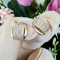 Сережки Xuping довжина 1.3см медичне золото позолота 18К с610, фото 1