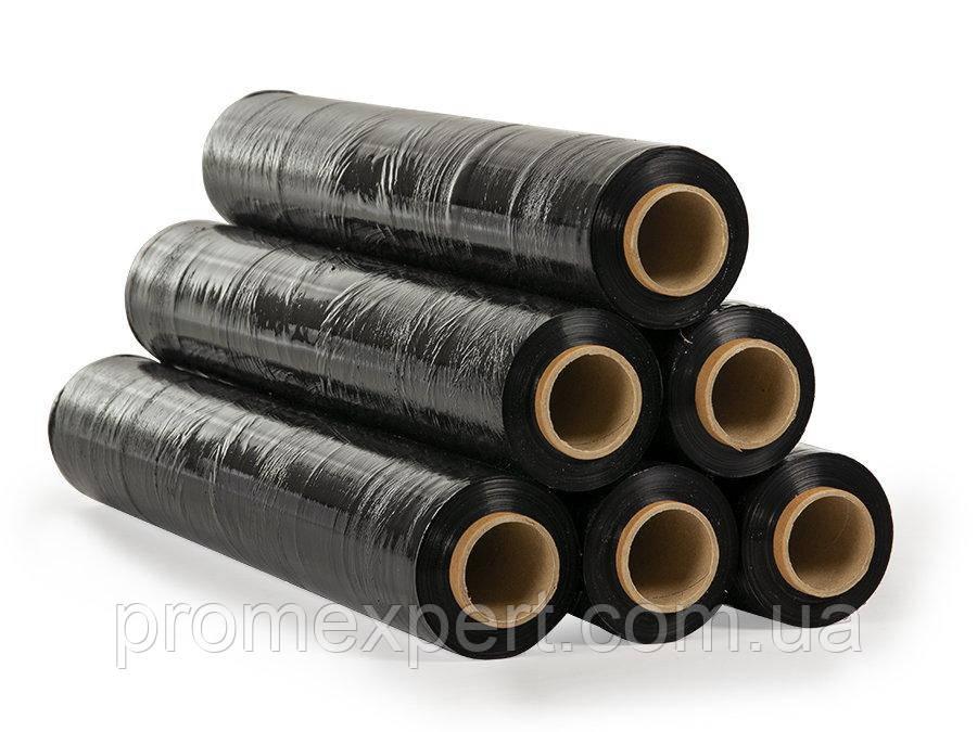 Стрейч пленка 20 мкм - 500 мм × черный / 470 м