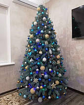 Лита ялинка Буковельська 2.10 м. блакитна // Штучна пластикова ялинка / Литая елка, фото 3