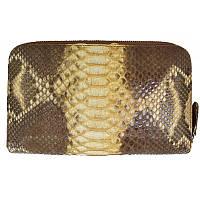 Универсальный клатч (портмоне/кошелек) из натуральной кожи питона