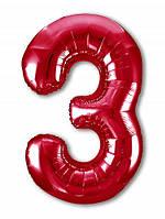 Цифра 3 Slim  Agura Червоний