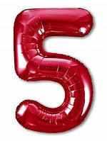 Цифра 5 Slim  Agura Червоний