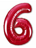 Цифра 6 Slim  Agura Червоний