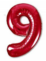 Цифра 9 Slim  Agura Червоний