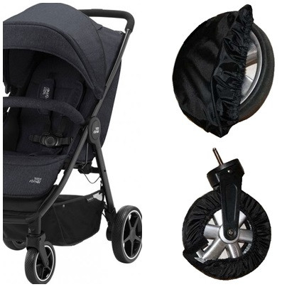 Чехлы-комплект на колеса прогулочной коляски. Диаметром 15-20см и 20-25см.  (Ok Style)