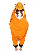 Кигуруми лисиця помаранчева доросла піжама krd0146