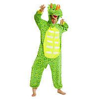 Кигуруми трицератопс зелений дорослий піжама krd0148