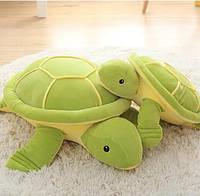 Плюшева іграшка-подушка черепаха зелена з пледом всередині 3 в 1 krd0180