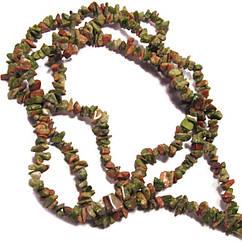 Сколы Камня Яшма Унаки Мелкие, Размер от 4 до 9 мм, Бусины Натуральный Камень