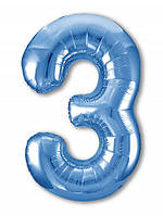 Цифра 3 Slim  Agura Синій