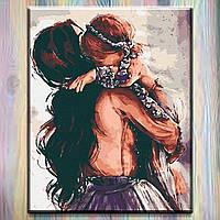 """Картина за номерами Riviera Blanca - Люди """"Мамині обійми"""" (Без коробки) 40*50см RB-0139"""