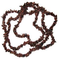 Обсидіан Вірменський Дрібні Відколи, Розмір від 4 до 9 мм, Близько 85 см нитка, Намистини для Біжутерії, Рукоділля