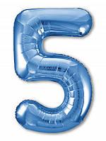 Цифра 5 Slim  Agura Синій