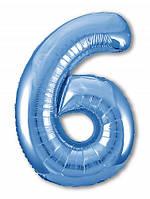 Цифра 6 Slim  Agura Синій