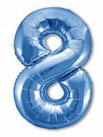 Цифра 8 Slim  Agura Синій