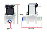 Водяний електромагнітний клапан для води або інших рідин, нормально закритий, з'єднання 1/4, живлення DC12V, фото 2