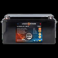 Акумулятор автомобільний LiFePO4 12V - 180 Ah (+ зліва, пряма полярність) пластик LogicPower