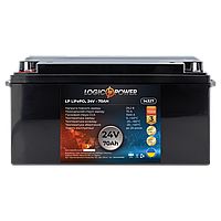 Акумулятор автомобільний LiFePO4 24V - 70 Ah (+ зліва, пряма полярність) пластик LogicPower