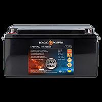 Акумулятор автомобільний LiFePO4 24V - 100 Ah (+ зліва, пряма полярність) пластик LogicPower