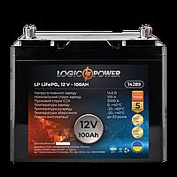 Акумулятор для автомобіля LiFePO4 12V - 100 Ah (+ праворуч, зворотна полярність) пластик