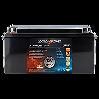 Акумулятор автомобільний LiFePO4 12V - 130 Ah (+ зліва, пряма полярність) пластик LogicPower