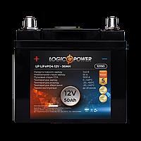 Акумулятор для автомобіля LiFePO4 12V - 50 Ah (+ праворуч, зворотна полярність) пластик