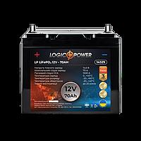 Акумулятор автомобільний LiFePO4 12V - 70 Ah (+ зліва, пряма полярність) пластик LogicPower