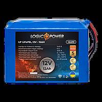 Акумулятор стартерний LiFePO4 12 V - 12 Ah для мопеда LogicPower