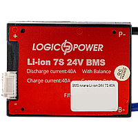 BMS плата Li-ion 24V 7S 40A симетрія