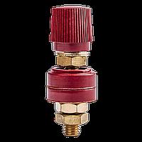 Мідна клема гвинтова 8 мм (червона)