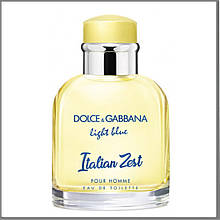 D&G Light Blue Italian Zest Pour Homme туалетная вода 125 ml. (Тестер Дольче Габбана Лайт Блю Италия Зест)