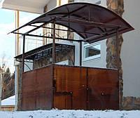 Прямостенная кабина для курения с арочной крышей