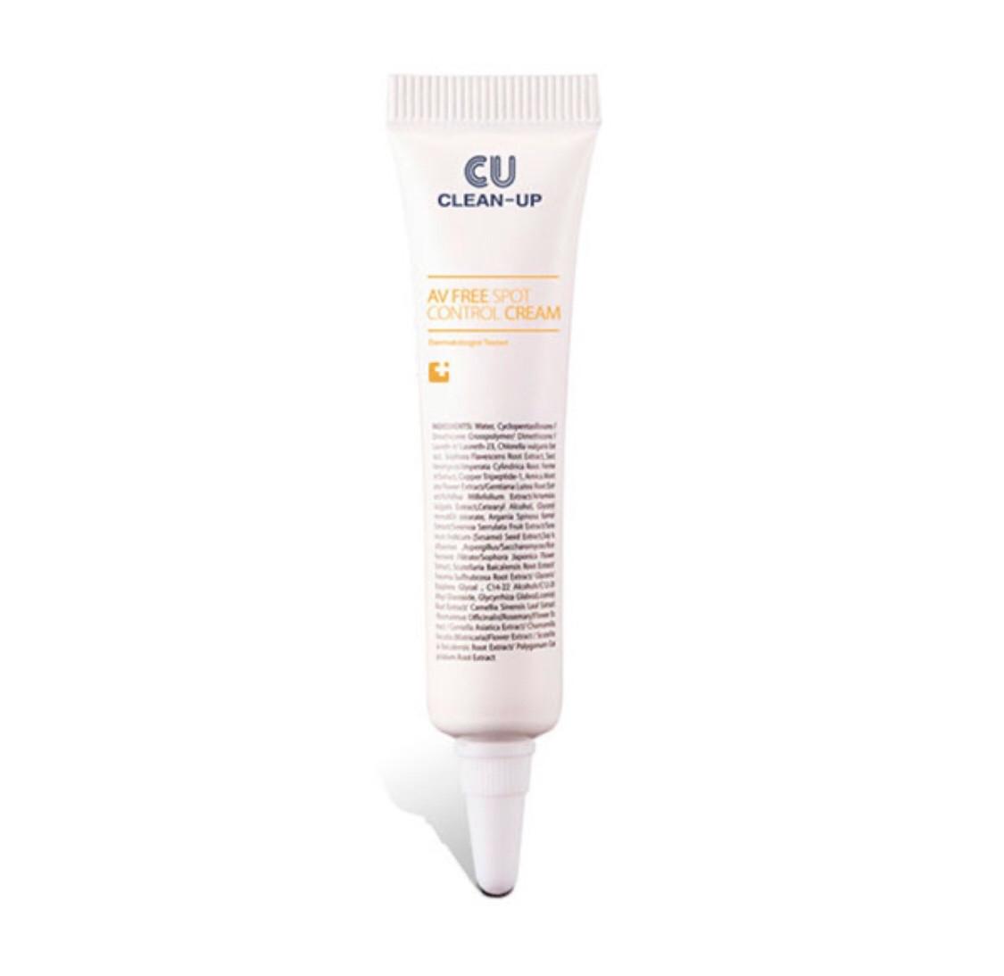 Точковий крем від запалень CUskin Clean-Up AV Free Spot Control Cream 10мл