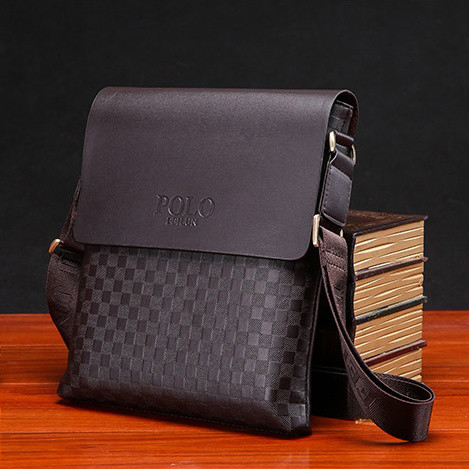 Мужская кожаная сумка Polo. Модель 4212