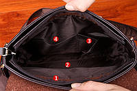 Мужская кожаная сумка Polo. Модель 4212, фото 4
