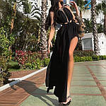 Женское платье, софт, р-р универсальный 42-46 (черный), фото 3