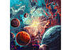 """Набір для розпису по номерах. Серія Космос """"Навколо сонця з фарбами металік"""" 50*50см, шт"""