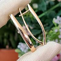 Сережки Xuping медзолото довжина 3.5 см позолота 18К стріли с701